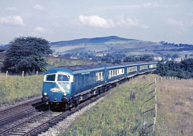 Pullman-Y-Chapel-1960-AHB977 The Midland Pullman is seen near Chapel en le Frith, the cleanliness of the train and the high summer sun suggests that the train is a test run, (the service train would have passed this location late evening making it difficult to photograph). Circa 1960. ©www.railphotoprints.co.uk - the late Alan H. Bryant ARPS
