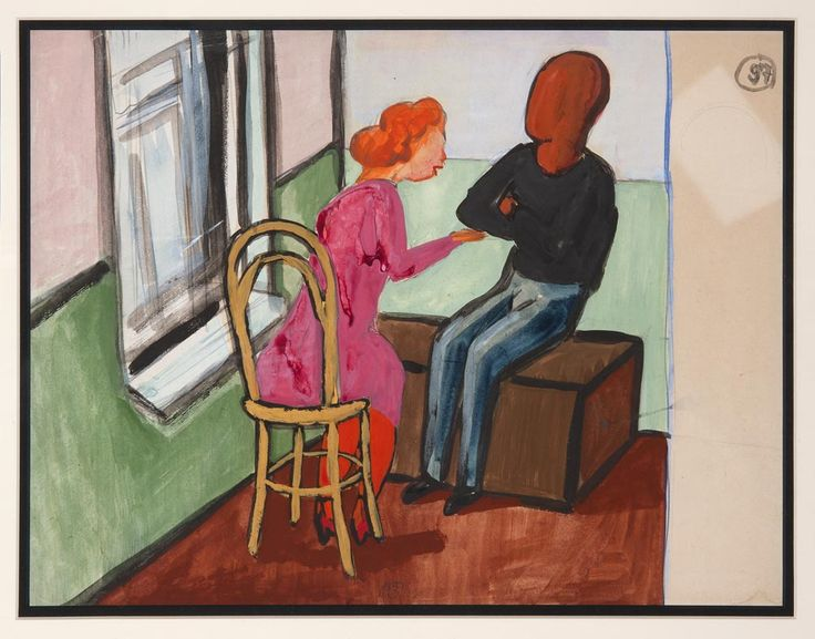 Alexander Arefiev: <I>Conversing Couple</I>. © Alexander Arefiev, courtesy Mikhail Baryshnikov and ABA Gallery. (Click image for larger version)