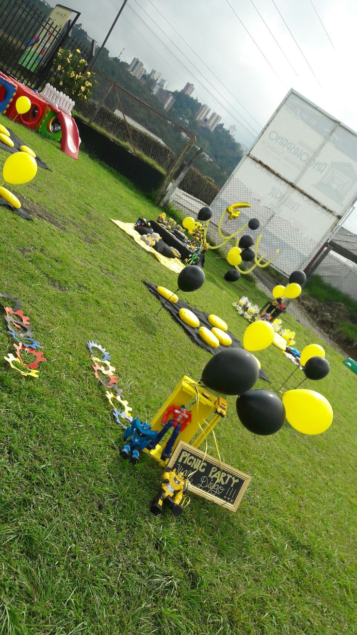 Picnic party #transformers #bumblebee #ideasconamor