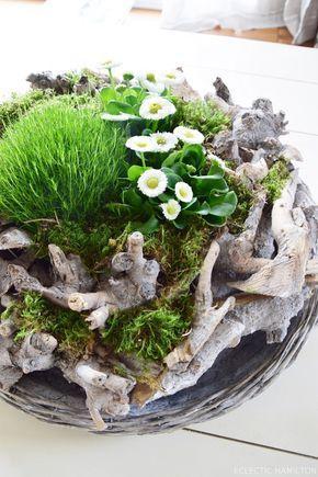 Gefüllter Frühlingskranz oder: DIY Frühlingslandschaft