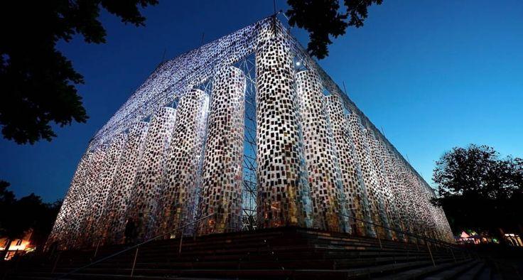 Artist Uses 100,000 Books To Make Full-Scale Parthenon Where Nazis Burned Them - http://all-that-is-interesting.com/parthenon-erected-in-germany?utm_source=Pinterest&utm_medium=social&utm_campaign=twitter_snap