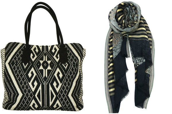 Go the extra mile this Valentine's Day with a set of original accessories from Asian Eye.  Complete her summer waredrobe with this jacquard woven mixed Montezuma inspired print - our HARVEY handbag. Cotton handles, black lining, inside zip and cell pockets, with a snap close.  Match it perfectly with our CASPIAN scarf with soft and elegant stripes and floral print. #asianeye #fashion #scarf #bag #love #valentinesday #gift #accessory