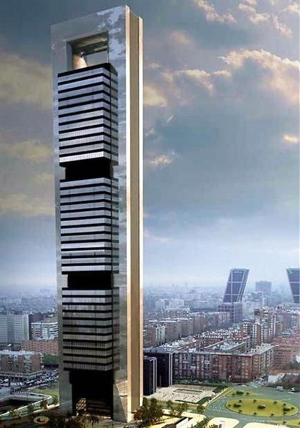 Futuristic Architecture, Tower, Skyscraper, Future Building, Torre Caja in Madrid by Norman Foster