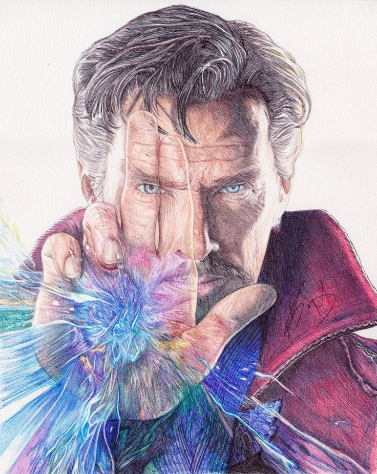 картинки доктора стрэнджа карандашом это