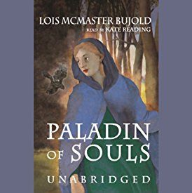 """Another must-listen from my #AudibleApp: """"Paladin of Souls"""" by Lois McMaster Bujold, narrated by Kate Reading."""