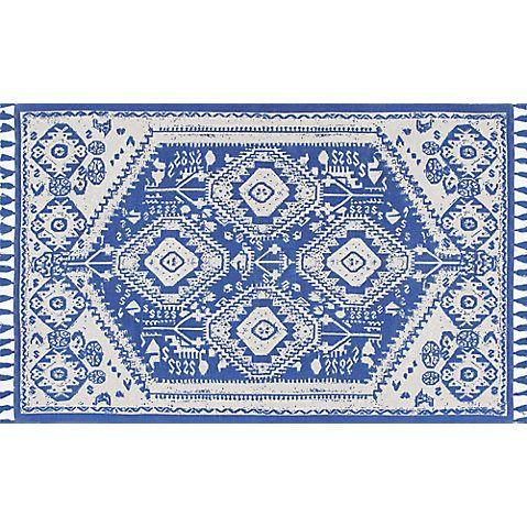 Malabar Flat-Weave Rug, Blue