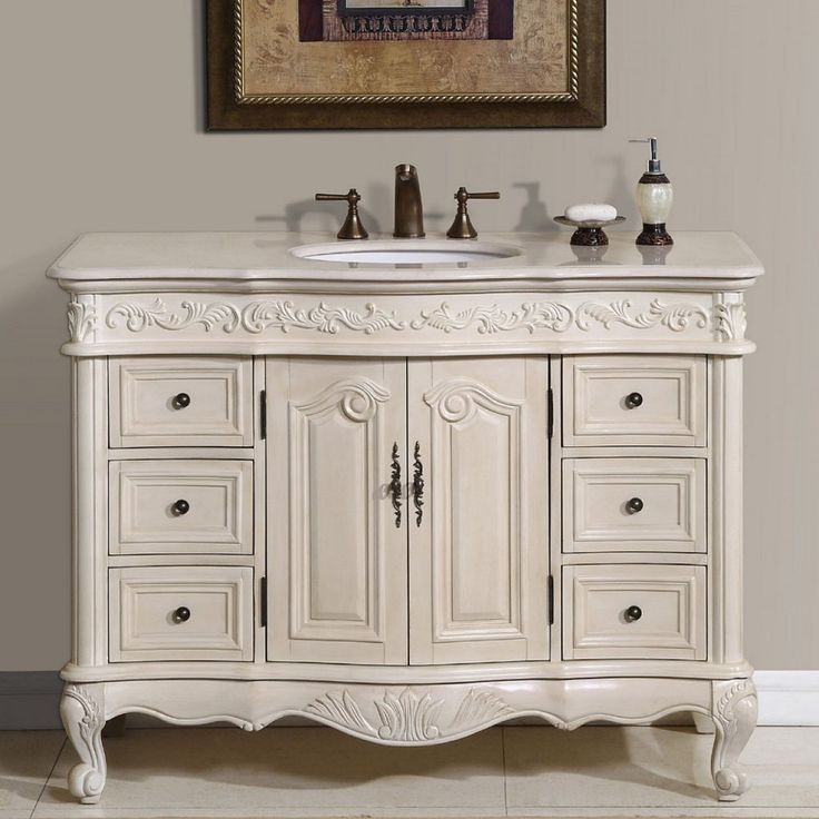 Classic Luxurious White Bathroom Vanity With Wall Mounted Rectangle Carved  Six Drawers Two Doors Wooden Beige Countertop Vanity Top Granite Cabinet  And ...