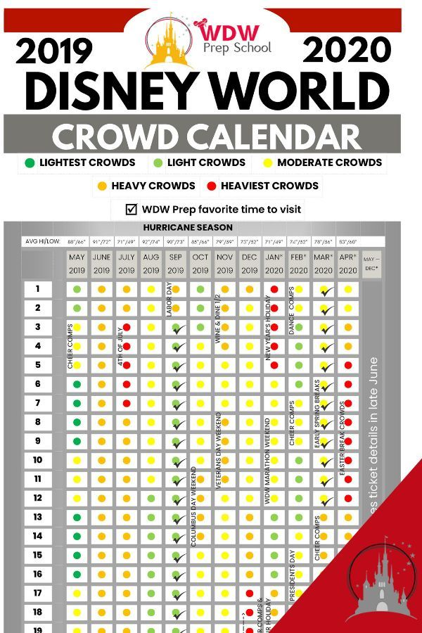 Disney World Crowd Calendar All The Best Times To Visit Walt