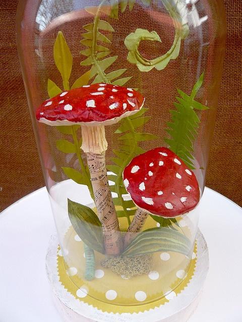 mushroom - paper mache