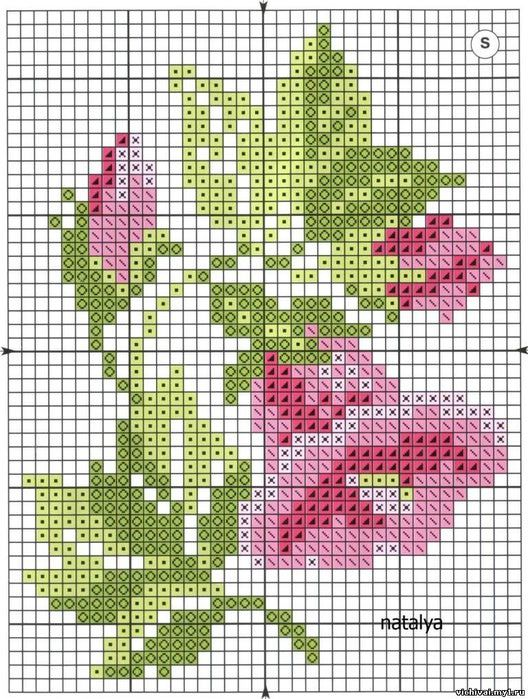 cross stitch chart. *<3* Monochrome 76 (528x700, 127Kb)