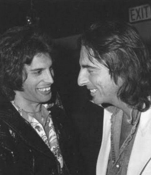 Freddie Mercury and Alice Cooper #rockstars #music #photography