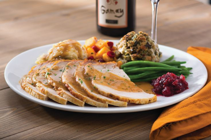 Our #Thanksgiving Plate includes Plainville Farms roasted #turkey with gravy, traditional herb stuffing, Yukon Gold mashed potatoes, maple-glazed butternut squash, French green beans, and house-made cranberry relish.  Visit our website to make a reservation.  Not available in McLean, VA.