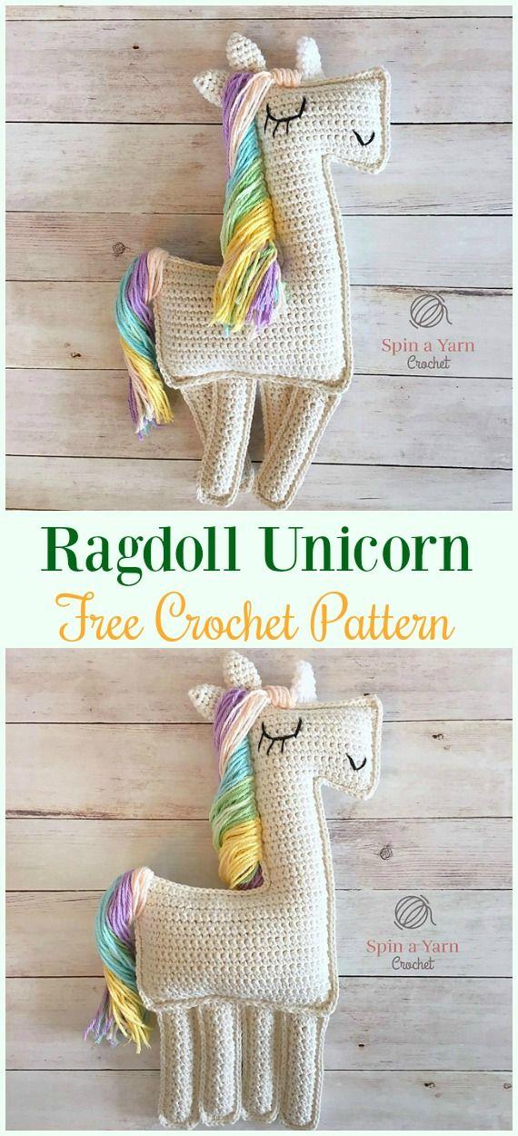Crochet Ragdoll Unicorn Amigurumi Free Pattern- #Amigurumi Crochet ...