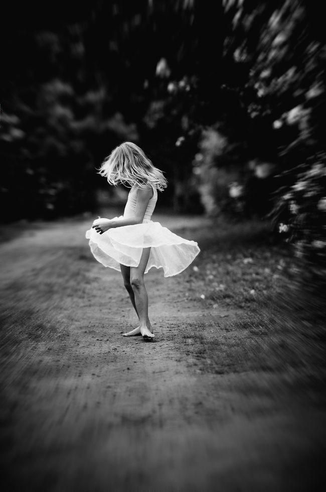 Little dancer kid photographyblack white