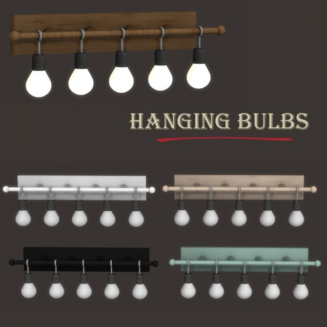 Hanging Bulbs at Leo Sims • Sims 4 Updates