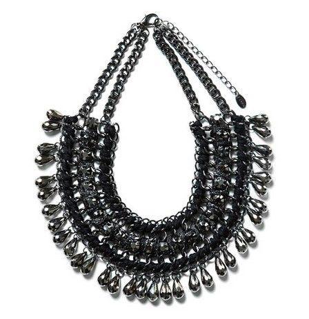 de alta calidad de moda 2014 multicapas de joyería de la cadena negro babero declaración gargantilla collar