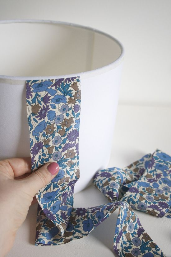How to make a fabric covered lampshade