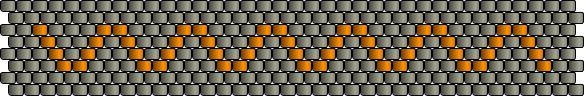 Ring-einfachesZickZack – Peyote Technik Muster