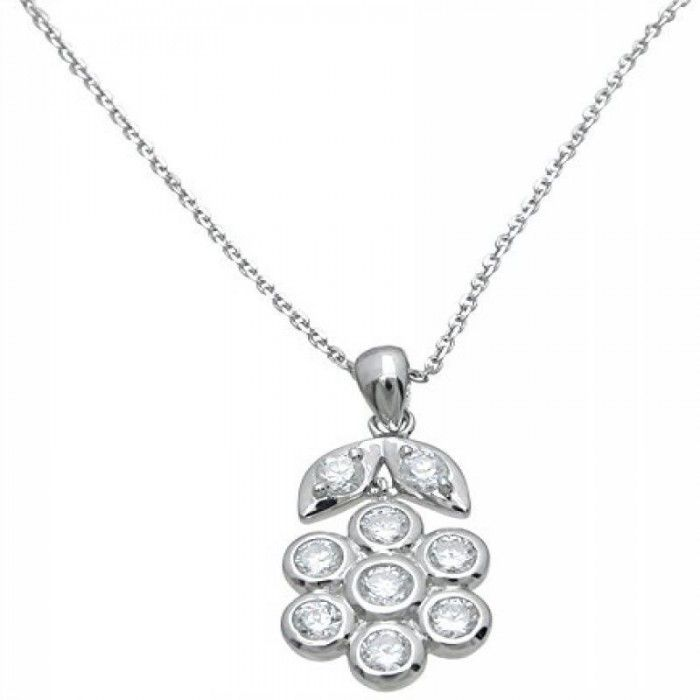 Plutus Brands Sterling Silver Flower Pendant  This is one of a kind #sterling #silver #pendant with chain. The #rhodium finish gives this sterling silver pendant the platinum look. It is almost impossible for an untrained eye to distinguish the difference between white gold and rhodium finish silver jewelry. The cutting edge finish makes this silver jewelry stand out above and beyond normal silver jewelry.