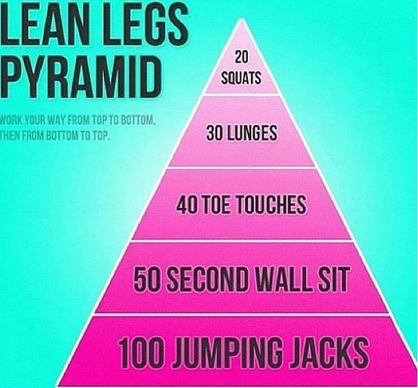lean legs pyramid workout