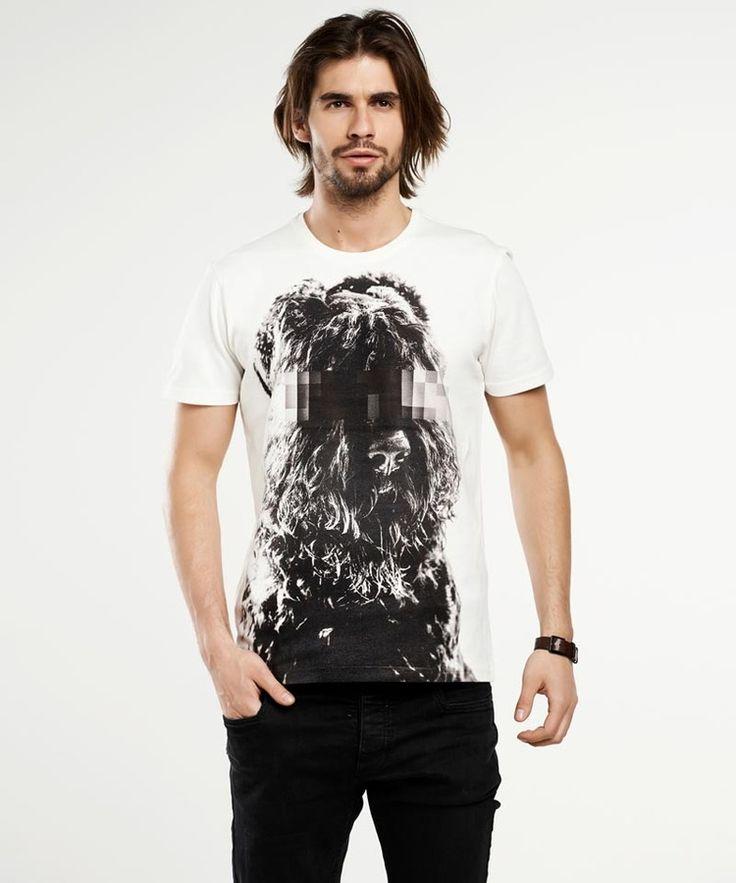 T-shirt męski Russian Terrier men's T-shirt - SELVA, od projektanta SELVA | Mustache.pl