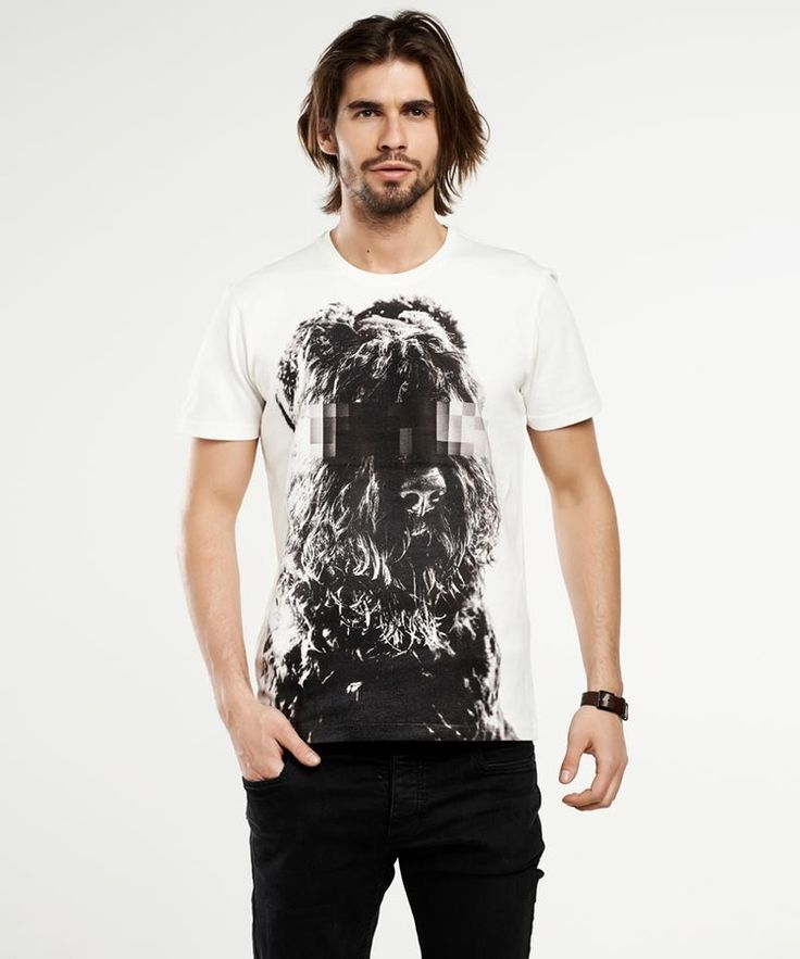 T-shirt męski Russian Terrier men's T-shirt - SELVA, od projektanta SELVA   Mustache.pl
