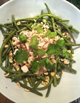 Salade de haricots verts au poulet aux noisettes - ELLE