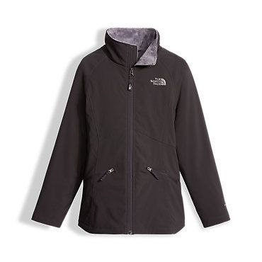 The North Face Girls' Mossbud Soft Shell Fleece Jacket: Kids