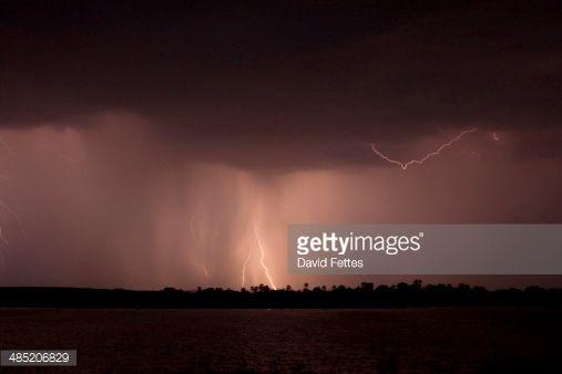 Stock Photo : Storm over Zambezi River