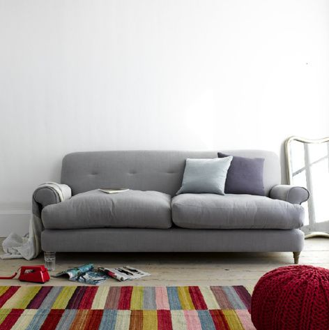 Blinder sofa in wolf brushed cotton