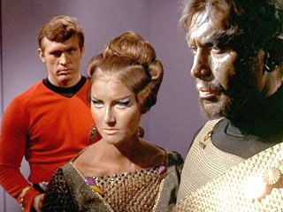In 2268, Mara, a female Klingon, served as both science officer and Kang's wife. She and Kang captured the U.S.S. Enterprise NCC-1701. After Chekov saved her, she began to trust humans....