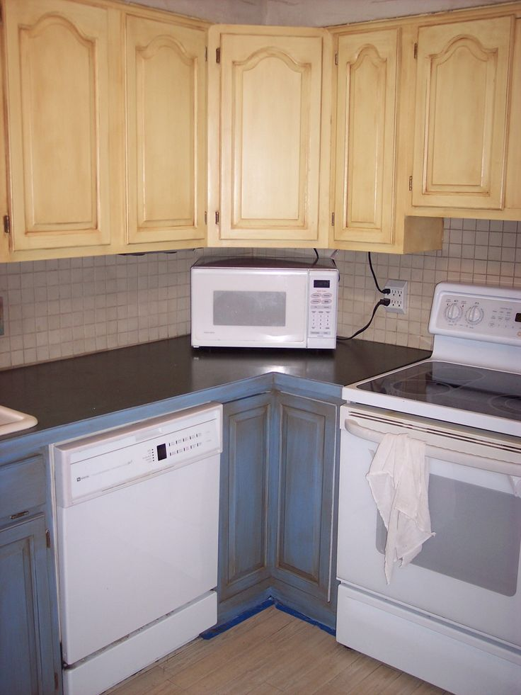 1000 images about painted cabinets on pinterest the old for Best paint for kitchen cabinets oil or latex
