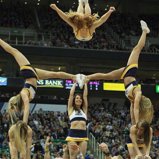cheerleader hands between legs