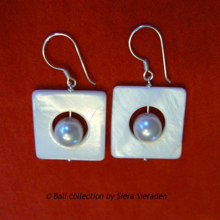 Oorbellen parel met parelmoer-Bali collecttion B4 - Klik op de afbeelding om het venster te sluiten