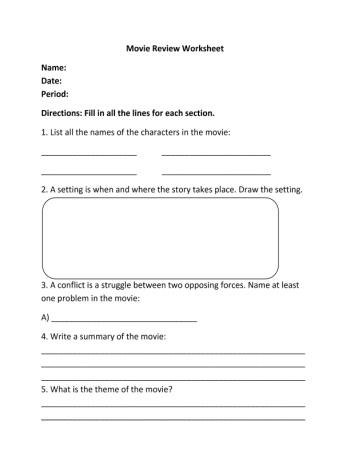 ... | Teacherlinx | Ideas for school | Pinterest | Worksheets and Movies