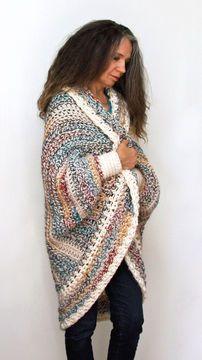 """Crochet Pattern: """"Luxe Oversized Shrug"""""""
