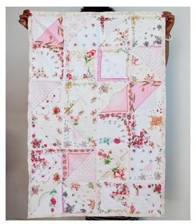 vintage handkerchief quilt vivalaeva  @Sarah Chintomby Wolf, this is so you!