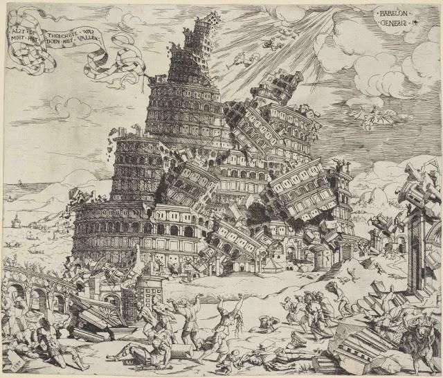 Cornelis Anthonisz 1505-1553 Fall of the Tower of Babel. 1547
