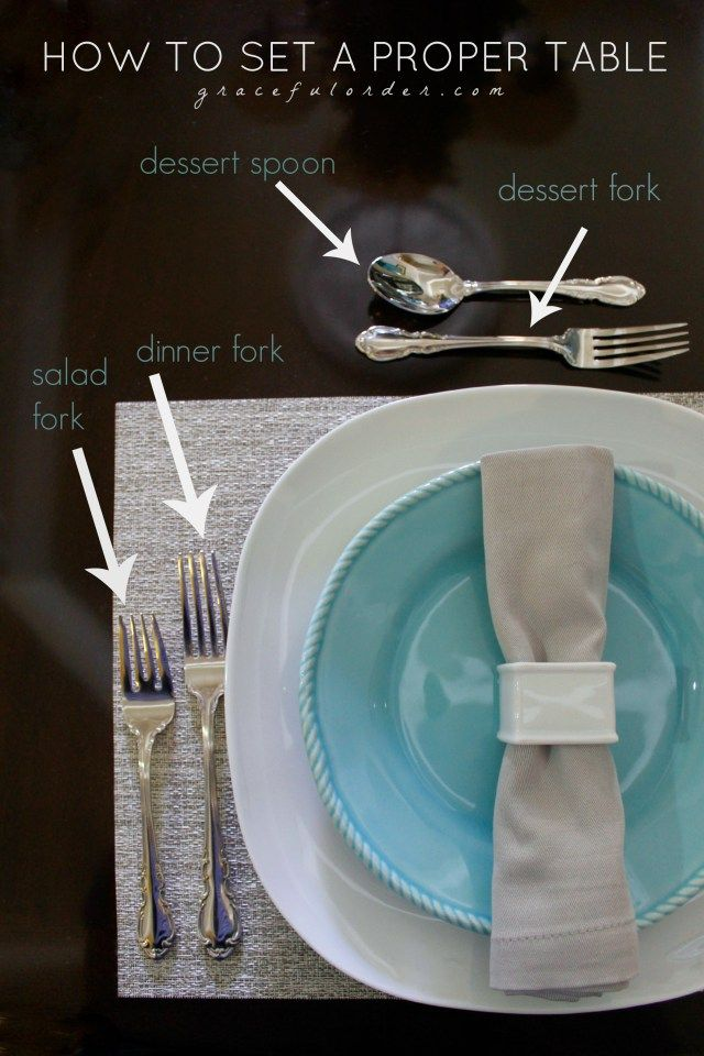 How to Set a Proper Table Setting – Perfect for the Holidays!