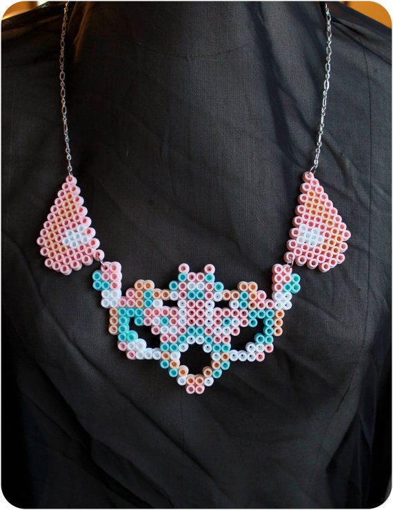 prince inspired perler bead necklace 3 fused
