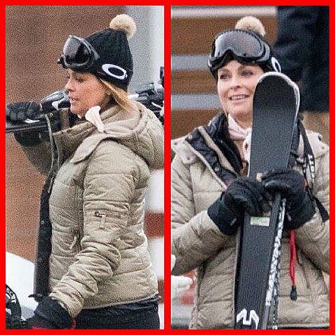 Princess Madeleine in Swiss Alps today