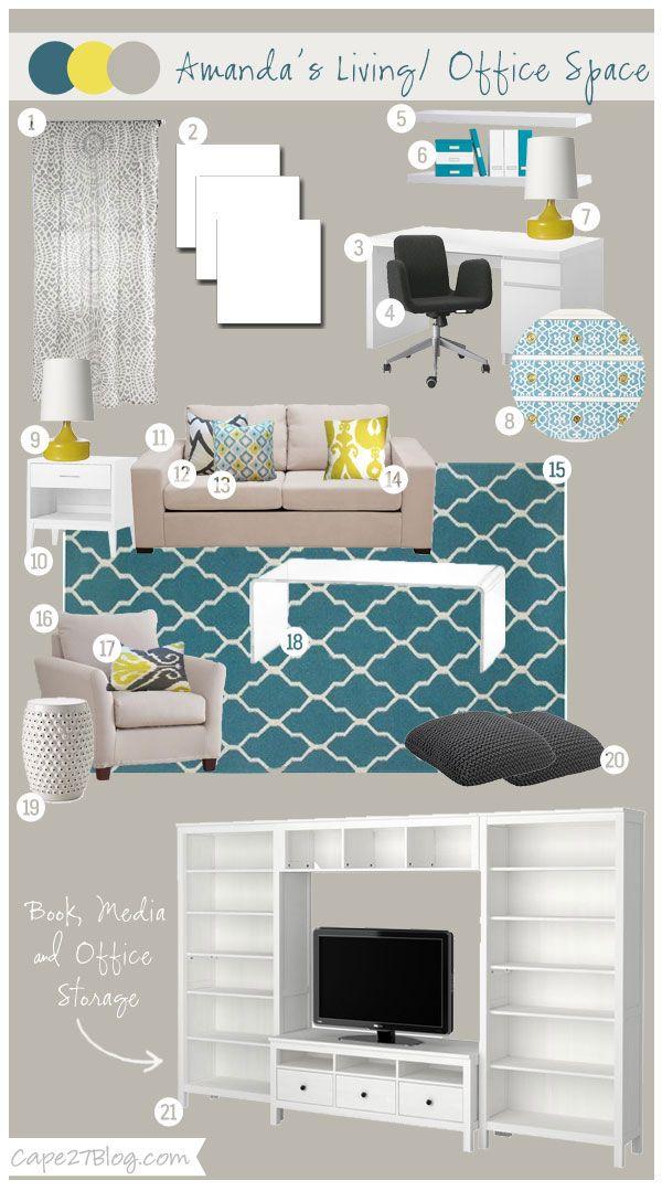 Cape 27 Custom Mood Boards: Amanda's Living & Office Space