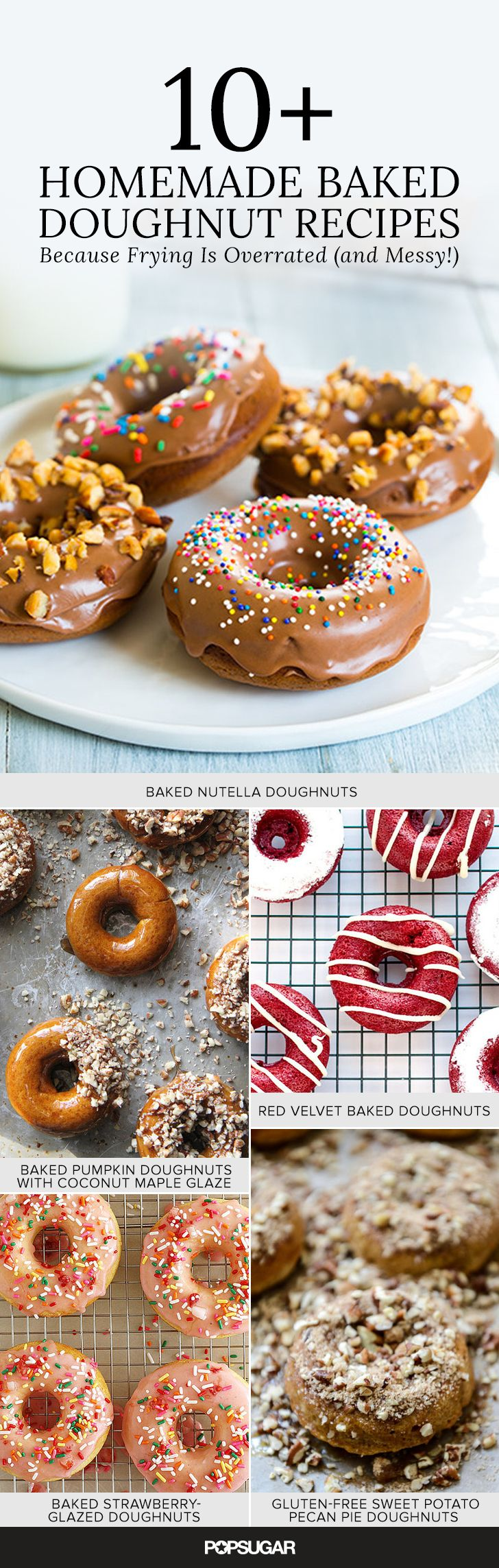 10+ Baked Doughnut Recipes, Because Frying is Overrated (and Messy!) — Nutella, red velvet, strawberry-glazed, and more!