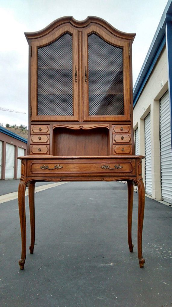 Vintage  French provincial secretary desk by ProvincialButFrench
