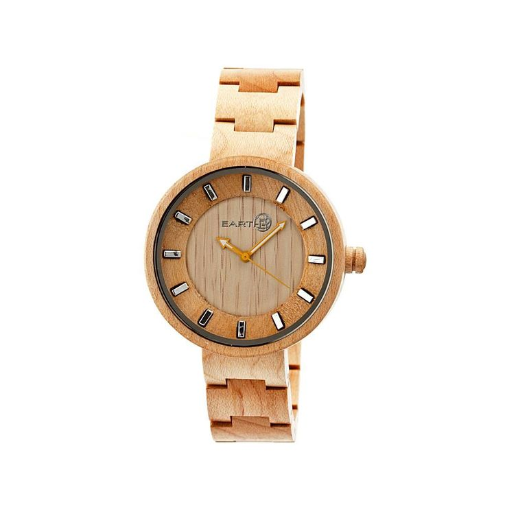 """Earth Wood Goods Watches Earth Wood """"Root"""" Khaki Dial Wood Bracelet Watch"""