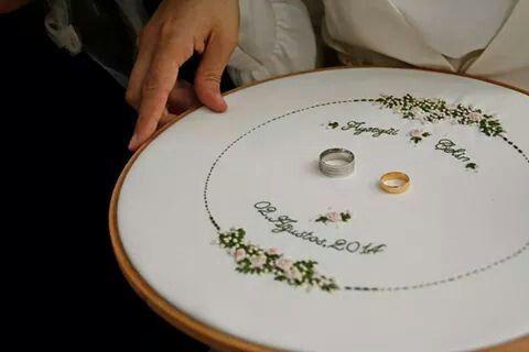 Nişan tepsisi.  Embroidery..