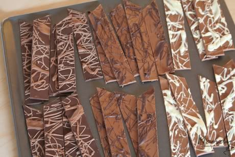 how to make chocolate shards [[awesome adornment for special gifts & Christmas]]