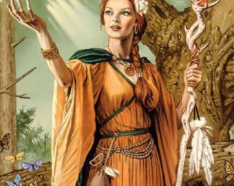 """In Norse mythology, Eir is the goddess associated with healing. She is known to be one of the handmaidens of Frigg, who is wife of Odin. Eir is the healer of the other gods and goddesses. If they were ever sick or injured; Eir would heal and protect them. One of the things Eir uses to heal people is ritual involving a white tanned flower (called the """"Eirflower"""" for this reason)."""