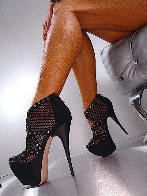 sexy sky high platform stiletto boots ♥
