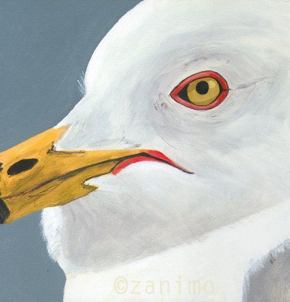 Ring-Billed Gull  Goéland à bec cerclé by Zanimo on Etsy